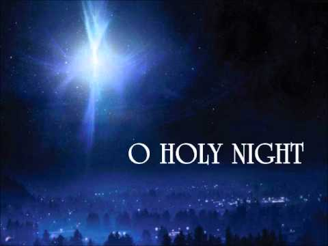 Song lyrics to O Holy Night written by Placide Clappeau in 1847, trans­lat­ed from French to Eng­lish by John S. Dwight. Music composed by Adolphe C. Adam. O Holy Night is said to have been the first mu­sic ev­er broad­cast over ra­dio.