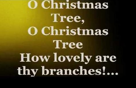 O Christmas tree song lyrics