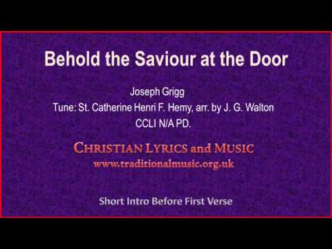 Song lyrics to Behold the Saviour at the Door - words by W. H. Bagby (1903)